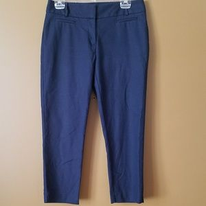 [LOFT] Navy Blue Julie Fit Cropped Pants